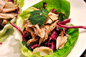 Shredded Chicken Lettuce Wraps Shredded Chicken Lettuce Wraps