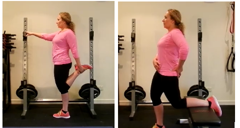 correct hip flexor stretch for blog Foam rolling for Hip and knee pain