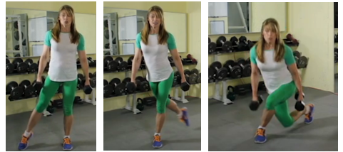 curtsy lunges How to Improve Your Balance