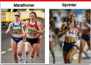marathoner vs sprinter  NEVER Use These Ab Training Approaches
